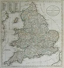 Map Of Yorkshire England by England An Accurate Map Of England And Wales With The Principal