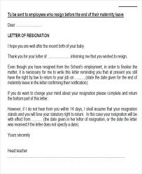 sample maternity resignation letter 5 examples in pdf word