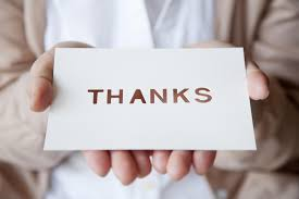 etiquette of writing a thank you note