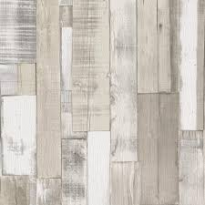 Faux Wood Wallpaper by Rasch Realistic Wooden Beam Panel Faux Effect Embossed Textured