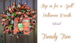 halloween candy wreath 2017 halloween witch stop in for a spell wreath tutorial by trendy