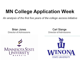 mn college application week an analysis of the first five years of