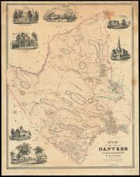 Town Map Of Massachusetts by Map Of The Town Of Danvers Massachusetts