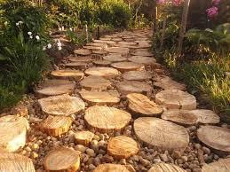 30 green design ideas for beautiful wooden garden paths natural