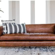 Mid Century Modern Leather Sofa Buy Mid Century Modern Brighton Leather Sofa Top Grain Genuine