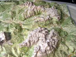 Dolomites Italy Map by Raised Relief Map Dolomites Italy As 3d Map