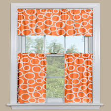 Orange And White Curtains Orange Kitchen Curtains Of Beautify Your House With Kitchen