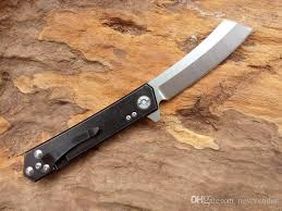 high end kitchen knives ts401 high end flipper folding knife d2 60hrc satin blade black tc4