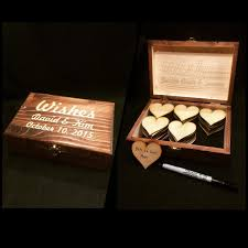 wedding wishes keepsake box wedding wishes box with wood hearts guest by engravemymemories