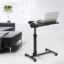 Movable Computer Desk Mobile Computer Desk Laptop Cart Black Walnut U2013 Langria