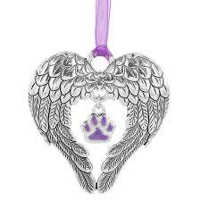 wings of an purple paw ornament the animal rescue site