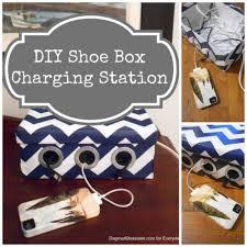 to make a diy shoe box charging station