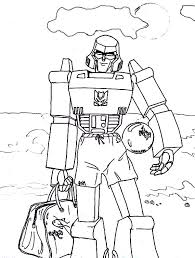 megatron coloring pages megatron playing ball on the beach coloring page netart