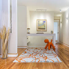 Modern Abstract Area Rugs Rugs Ivory Orange Abstract Area Rug Modern Swirls Paint Floor