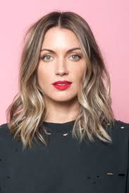 graceful medium length haircuts middle part