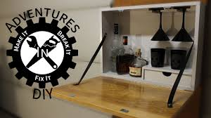 Folding Bar Cabinet Making A Wall Mounted Bar Youtube
