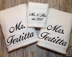 wedding gift towels personalized towels etsy