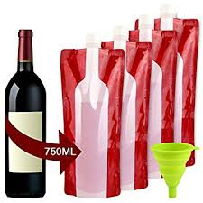 the foldable wine bottle reusable bag for wine to go