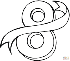 number 8 coloring page free printable coloring pages