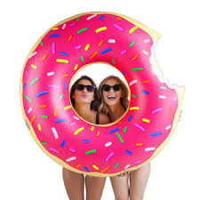 large donut cushion sprinkles bluewater 10 00