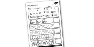 tally activity sheet data collection tally tally marks