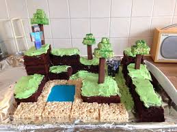 Minecraft Cake Decorating Kit Minecraft World Cake With Pictures
