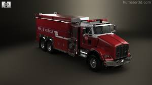 2005 kenworth truck 360 view of kenworth t800 fire truck 3 axle 2005 3d model hum3d