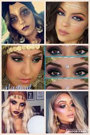 Gypsy Makeup Tutorial Halloween by 52 Best Halloween Makeup Collages Images On Pinterest Make Up