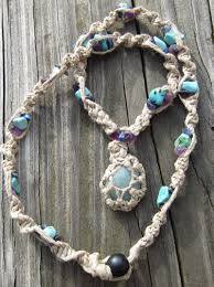 make necklace with stone images How to wrap a stone with string jewelry tutorial jpg