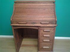 bureau top office solid pine roll top office bureau desk drawers ebay quercus