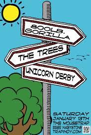 800 lb gorilla w the trees and unicorn derby saturday january