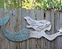 Imposing Design Wooden Mermaid Wall Decor Routed Wood Hanging