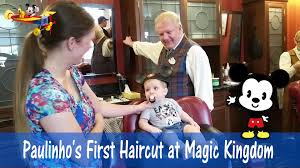 paulinho first haircut at harmony barber shop magic kingdom youtube