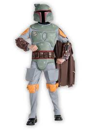 Boys Kids Halloween Costumes Kids Deluxe Boba Fett Costume