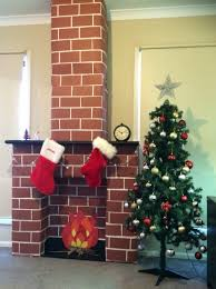 cardboard box fireplace binhminh decoration
