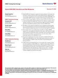 bac price quote bank of america hybrid arm mbs valuation and risk measures