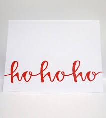 ho ho ho card set art cards u0026 stationery modern memo