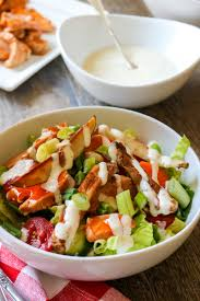 Buffalo Chicken Buffalo Chicken Salad With Oven Baked Fries