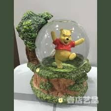 120mm happy pooh glass ornament decoration