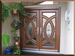 Door Pattern Furniture Modern House Design Alongside Oak Wood Double Swing