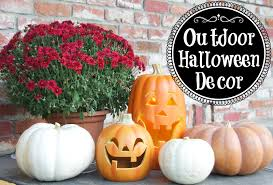 Outdoor Halloween Decor by Outdoor Halloween Decor Simply Organized