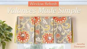 How To Sew Valance Sew Your Own Window Valances Step By Step Craftsy