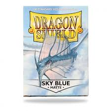 dragon shield 100 protective sleeves matte sky blue