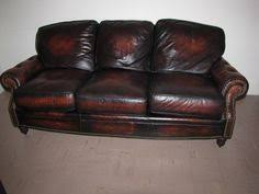 Chicago Restoration Hardware Lancaster Leather Sofa - Leather sofas chicago