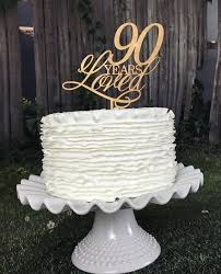 90th Birthday Centerpiece Ideas by 90th Anniversary Cake Topper 90th Birthday Cake Topper 90th