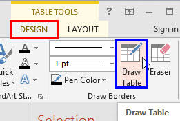 table tools design tab draw tables in powerpoint 2013 for windows windows powerpoint