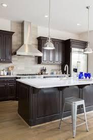L  Espresso Staining Kitchen Cabinet With Dark Walnut And - Espresso cabinets kitchen