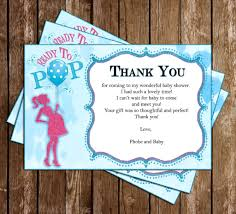 novel concept designs ready to pop baby shower thank you card