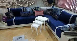 photo canapé marocain tissu benchrif pour salon marocain 2018 déco salon marocain