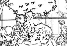 colouring picture garden garden flowers colouring pages pics